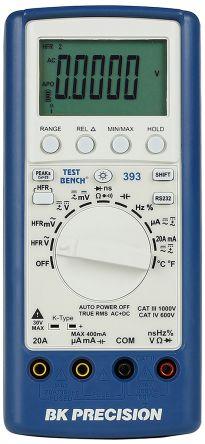 BK Precision BK393 Handheld Digital Multimeter, 20A ac 750V ac 20A dc 1000V dc 60MΩ