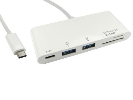 RS PRO 2x USB C Port Hub, , USB 3.0 - USB Powered