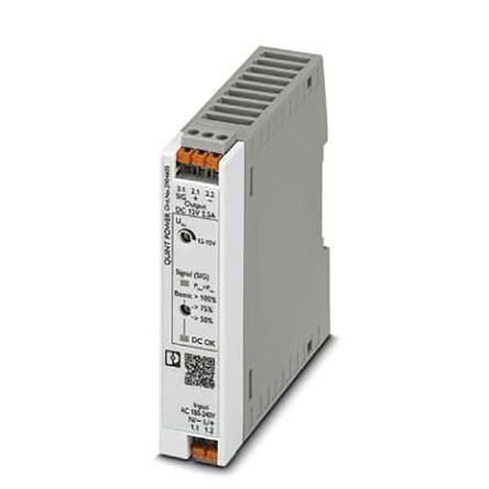 Phoenix Contact DIN Rail Power Supply, 12V dc Output Voltage, 2.5A Output Current