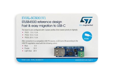 STMicroelectronics, Fast and Easy Migration from DC Barrel to Type-C DC Barrel to USB Type C Evaluation Board for
