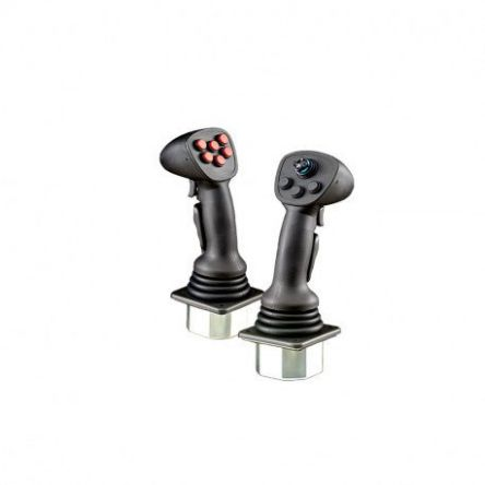 APEM, XDGTT2LNNCYYKAN, 2 Way Joystick Switch Hall Effect, IP67 Rated