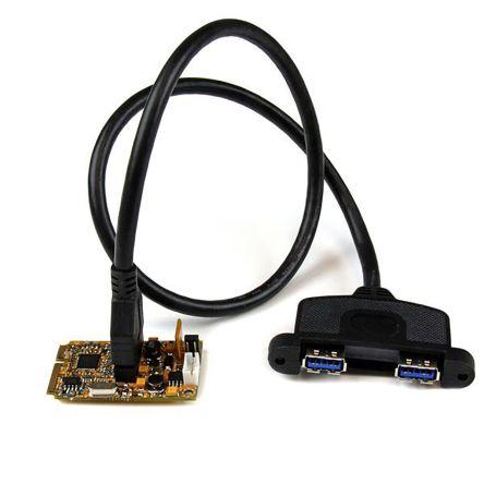 2 Port Mini PCIe USB 3 Adapter Card - Du