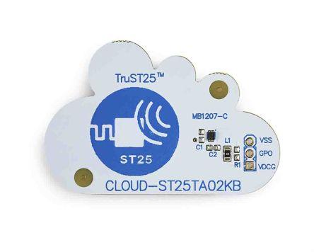 STMicroelectronics - CLOUD-ST25TA02KBST25TA02KB-P Bluetooth, WiFi Demonstration Board NFC Forum Type 4 Tag IC