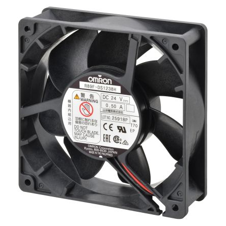 Omron, 24 V dc, DC Axial Fan, 120 x 120 x 38mm, 3.88m³/min, 12W