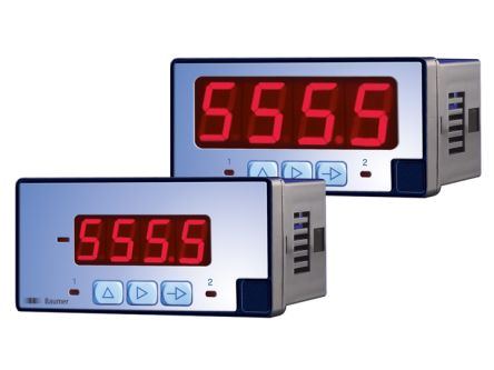 Baumer PA403.018AX01 , LED Digital Panel Multi-Function Meter for Current, Volatge, 45mm x 92mm