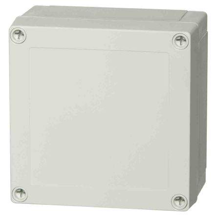 Fibox Polycarbonate Enclosure, IP66, IP67, 130.1 x 130.1 x 75mm Light Grey