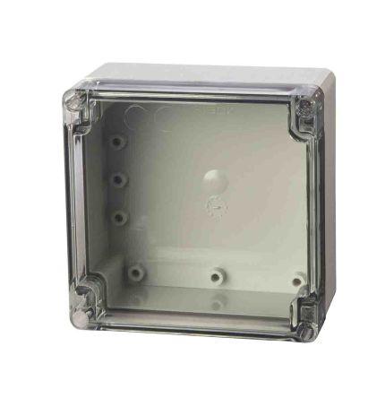Fibox ABS Enclosure, IP66, IP67, 122 x 120 x 75mm Light Grey