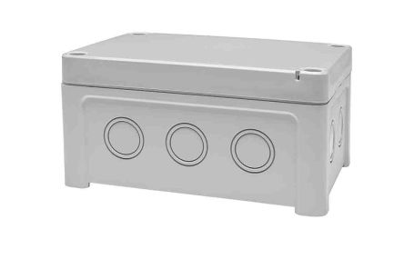 Fibox ABS Enclosure, IP65, 130 x 95 x 65mm Light Grey