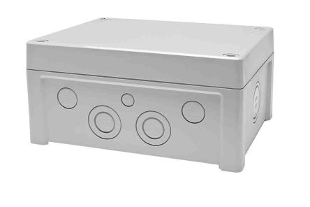 Fibox ABS Enclosure, IP65, 201 x 163 x 98mm Light Grey