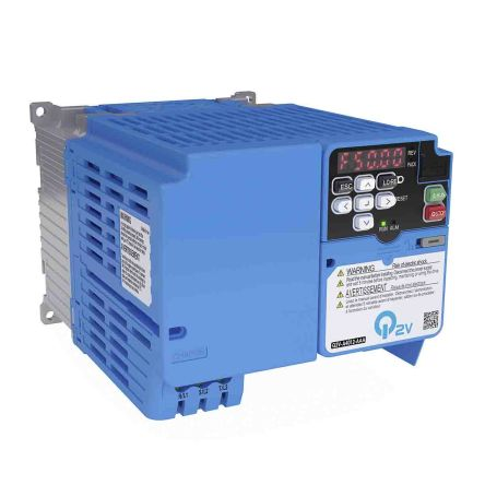 Omron Inverter Drive, 3-Phase In, 590Hz Out 0.37 kW, 400 V ac, 1.2 A Q2V, IP20