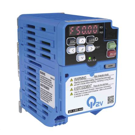Omron Inverter Drive, 1-Phase In, 590Hz Out 0.75 kW, 200 V ac, 3.5 A Q2V, IP20