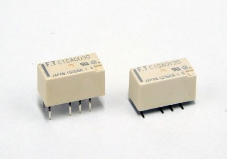 Fujitsu PCB Mount Non-Latching Relay - DPDT, 24V dc Coil, 2 Pole