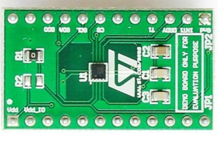 STMicroelectronics STEVAL-MKI137V1, LIS3MDL Adapter Board for Standard DIL24 Socket Adapter Board for Standard DIL24
