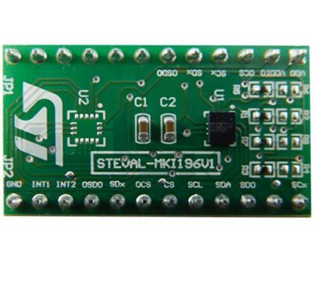 STMicroelectronics STEVAL-MKI196V1, LSM6DSO Adapter Board for a Standard DIL24 Socket Adapter Board for Standard DIL24