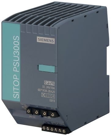 Siemens DIN Rail Power Supply - 340 → 550V ac Input Voltage, 24V dc Output Voltage, 10A Output Current, 240W