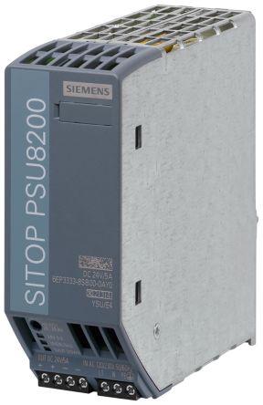 Siemens DIN Rail Power Supply - 120 V ac, 230 V ac Input Voltage, 24V dc Output Voltage, 5A Output Current