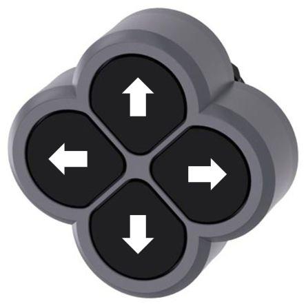 Siemens Black Push Button, 3SU1 Series, 22mm Cutout, Round