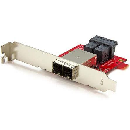 Mini-SAS Adapter - Dual SFF-8643 to SFF-