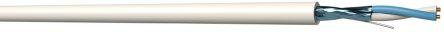 2 Core Screened Drain wire+Al foil Cable, 0.34 mm² White 100m Reel