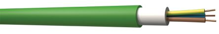 2 Core Unscreened Electrical Cable, 1.5 mm² Green 100m Reel