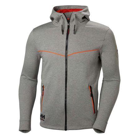 Helly Hansen Chelsea Evolution Grey Cotton, Polyester Work Jacket, XL