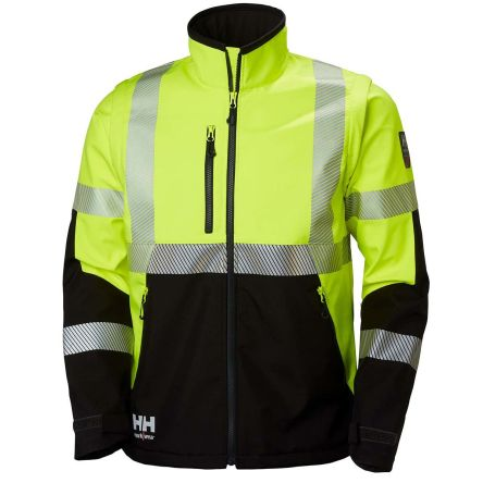 ICU SOFTSHELL JACKET - EN471 YELLOW/BLAC