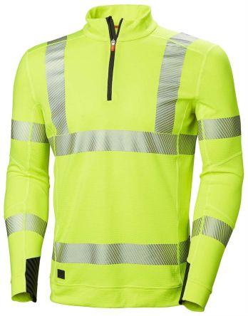 Helly Hansen HH Lifa Active Yellow Unisex Hi Vis Polo Shirt, L