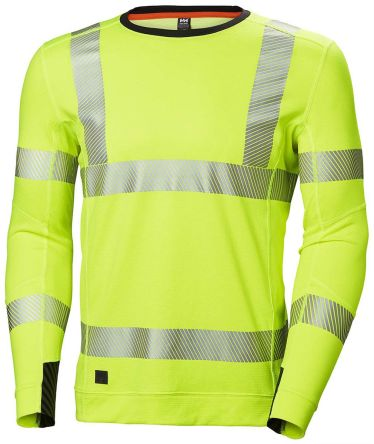 Helly Hansen HH Lifa Active Yellow Hi Vis T-Shirt, XL