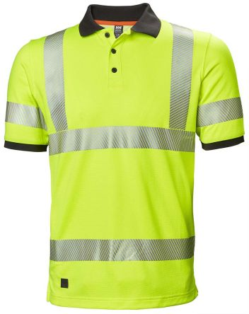 Helly Hansen HH Lifa Active Yellow Unisex Hi Vis Polo Shirt, M