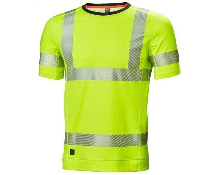 Helly Hansen HH Lifa Active Yellow Hi Vis T-Shirt, L