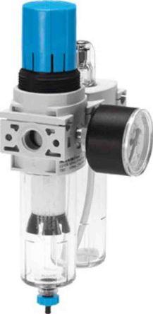 Festo Filter Regulator Lubricator, Manual Drain, 40μm Filtration Size