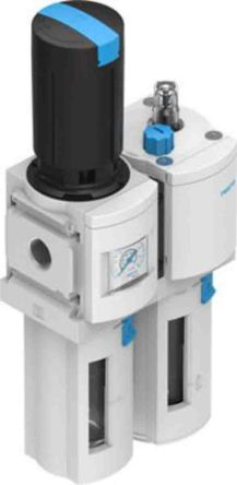 Festo G 1/2 Filter Regulator Lubricator, Manual Drain, 40μm Filtration Size