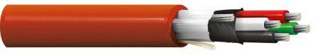 Belden 3 Conductor Braid, Foil Industrial Cable 0.57 mm² Red PVC Sheath, 305m Reel