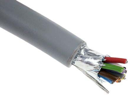 Coiled Cable 7 core 0.14mm² Wire Size Screened PVC Sheathed Cable