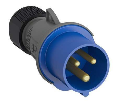 ABB Easy & Safe Series, IP67 Blue Cable Mount 2P+E Industrial Power Plug, Rated At 16A, 200 → 250 V