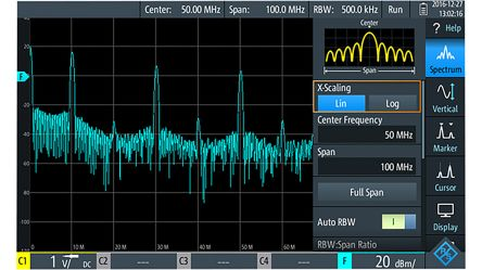 RTH-K18 Oscilloscope Software Spectrum Analysis, For Use With RTH Handheld Digital Oscilloscope product photo
