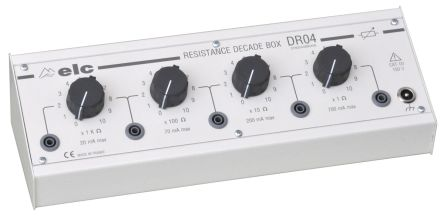ELC DR 04 Decade Box, Decade Box Type Resistance, Resistance Resolution 1Ω, Best Maximum Resistance Accuracy ±1% 0.5W