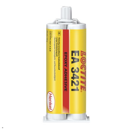 Hysol 3421 50 ml Transparent Amber Dual Cartridge Epoxy Adhesive for Various Materials product photo