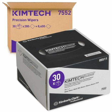 Kimberly Clark Box of 280 White KIMTECH SCIENCE Dry Wipes for Clean Room Use