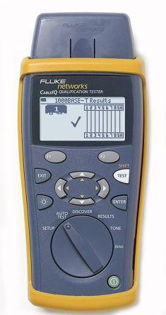 Fluke Networks CableIQ LAN Test Equipment of Ethernet Port Test, Length, PoE Dectection, Remote ID Locator