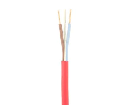 RS Pro Standard Fire Performance LSZH Electrical Wiring Cable, 2 Core, Red, 100m, 1.5 mm² CSA