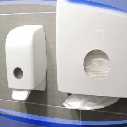51a183bf36d78 Kimberly Clark White 1L Wall Mounted Soap Dispenser for Aquarius, Kimcare,  Kleenex   Kimberly Clark   RS Components India