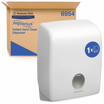 Kimberly Clark Plastic White Wall Mounting Paper Towel Dispenser, 320mm x 420mm x 150mm