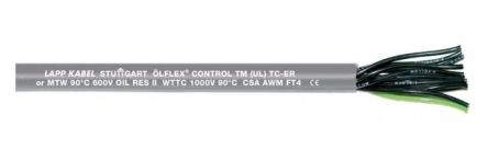 7 Conductor Unscreened Industrial Cable 1 mm²(CE, CSA, UL) Grey 50m Reel, ÖLFLEX CONTROL TM Series product photo