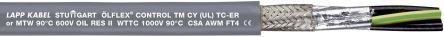 4 Conductor Braid, Foil Industrial Cable 6 mm²(CE, CSA, UL) Grey 50m Reel, ÖLFLEX CONTROL TM CY Series product photo