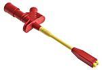 Hirschmann prova e misurazione 5a a clip 4mm Rosso test 930113101-SONDA