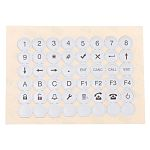 Keypad Legend Sheets