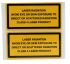 Brady Black/Yellow Vinyl Safety Labels, Laser Radiation Avoid Eye Or Skin Exposure To Direct Or Scattered Radiation