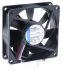 ebm-papst 8400N Series Axial Fan, 80 x 80 x 25mm, 45m³/h, 900mW, 12 V dc