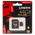 Kingston Micro SD Karte, MicroSDXC 64 GB, Class 10, UHS-1 U3